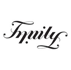 Family Ambigram in Typography