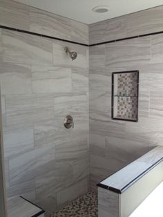 Neutral Grays for Nordling Master bath Remodel by Uneek