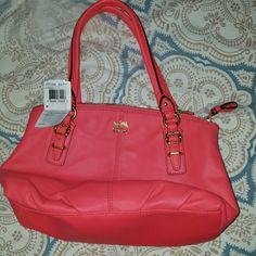 Coach handbag Small coral coach handbag  brand new with tags Coach Bags