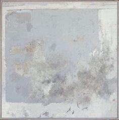021. Henning Holm Nielsen. Grey Landscape.  cold Wax. 70x70cm.