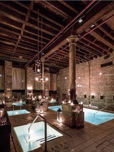 If you've ever lived in New York City, you know what it is like to live in a constant state of feeling like you need a massage and a cocktail. You know these spa's are calling your name. Go To New York, New York City, New York Bucket List, Humid Weather, Best Spa, Living In New York, Pool Designs, Spa Day, Dining Table