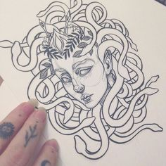 Medusa tattoo commission WIP for Clio. Much details and edits to come. I am getting a medusa tattoo in the future and this is making me stoked about it! This work is a paid commission, it is copyrighted NO STEALING. ✨ #art #artist #artnerd #artwork #artcollective #artistcollective #artistsoninstagram #medusa #tattooart #tattoodesign #ink #blackink #blackwork #blacktattoo #myart #drawing #doodle #dotwork #girl #medusaart #jennaleeauclair #snake