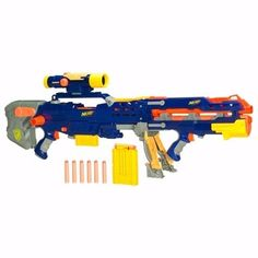 Not to be confused with the 2014 Z. Squad Longshot or the 2017 Nitro LongShot. The Longshot is a clip system Nerf blaster that was released in 2006 under the N-Strike series. Megalodon, Nerf Snipers, Nerf Longshot, Arma Nerf, Pistola Nerf, Cool Nerf Guns, Nerf Mod, Sci Fi Films, Toy R