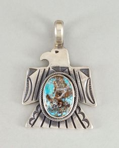 THUNDERBIRD PENDANT TOP W/TURQUOISE-007 | Gary Reeves | Native Artist | 製品案内 | FUNNY : ファニー