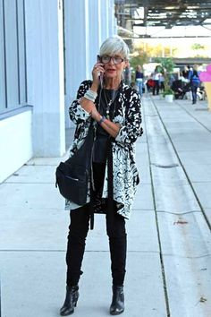 A column of black makes a great base for accessories.