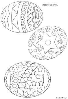 Coloriage 3 oeufs de Pâques