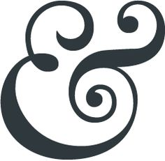 """I like the ampersand. I think it is often the most attractive character of them all."" • The Ampersand —  a scribal abbreviation for ""and,"" derived from the Latin word ""et."" • from The Ampersand, a blog about, well, the ampersand :)"