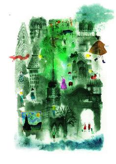01 / Daniela Arias / Ciudades / from: La Vuelta al Mes en 30 Ilustradores