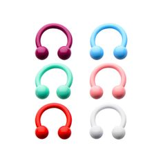 Captive bead rings that are ceramic color coated, these are pastel colored nose hoops and are great for healed piercings. Septum Piercing Jewelry, Nose Jewelry, Body Piercing, Cartilage Piercings, Jewlery, Pale Pink Lips, Pink Lip Gloss, Nose Hoop, Nose Stud