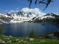 Stunning shot of the Allos Lake in the Mercantour National Park!