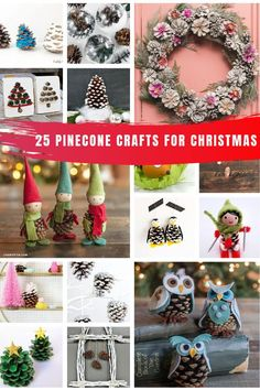 25 easy DIY pinecone crafts for Christmas {Decoration projects that you can do this weekend! Easy Halloween Crafts, Easy Christmas Crafts, Simple Christmas, Fall Crafts, Christmas Holidays, Christmas Decorations, Holiday Decor, Christmas Ideas, Winter Holiday