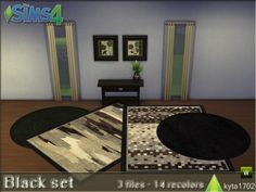The Sims Resource: Black set carpets • Sims 4 Downloads