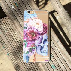 """Clear Plastic Case Cover for iPhone 6 (4.7"""") Craneo De La Flor"""