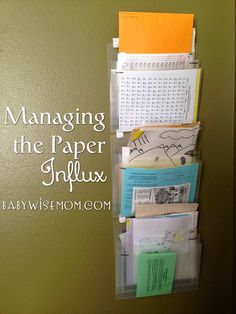 Managing the Paper Influx. Whether you are looking for solutions for school papers to junk mail, this post can help. School Paper Organization, Organizing Paperwork, Planner Organization, Office Organization, Organizing Life, Organization Ideas, Organized Mom, Getting Organized, School Hacks