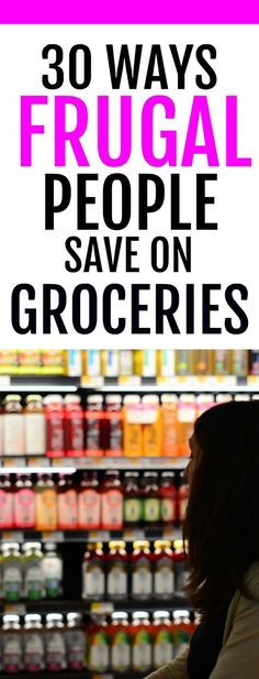 Easy tips to slash your spending on groceries. Tons of ideas for saving money at the grocery store. If you want to live a frugal live, these tips and tricks will help you save money on food expenses.
