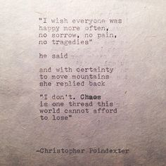 The Blooming of Madness poem #120 written by Christopher Poindexter
