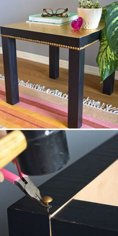 Add Some Bling To Your Lack Table | 18 Life Hacks Every Girl Should Know | Easy DIY Projects for the Home