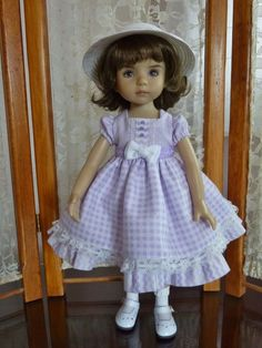 Dot, Checks & Zigzag for Dianna Effner's Little Darling Doll Made by RRS #DiannaEffner