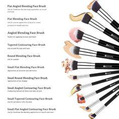 Amazon.com : BESTOPE 10PCs Premium Synthetic Makeup Brushes Makeup Brush Set Cosmetics Foundation Blending Blush Eyeliner Face Powder Brush Makeup Brush Kit (Black Sliver) : Beauty