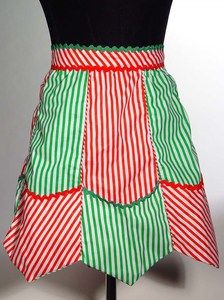Katherine's Collection Eula Christmas Apron, Perfect apron when cooking in the kitchen this Christmas Holiday season.