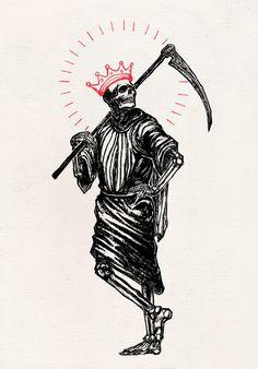 micahulrichdraws:Dead End Job, Micah Ulrich, Ink, Tattoo Sketches, Tattoo Drawings, Body Art Tattoos, Art Drawings, Satanic Art, Skeleton Art, Desenho Tattoo, Inspiration Art, Art Graphique