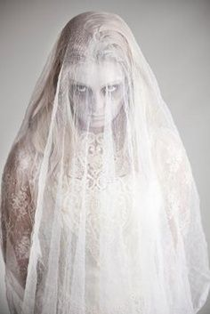 diy victorian ghost costume - Google Search THE MORE i see ideas for this, the more i want to do it. should i spraywhite my hair or buy a wig?