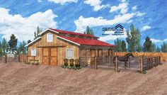 Here's how to design your dream equestrian setup--in this case, on a small acreage