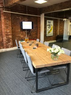 Industrial Style Reclaimed Wood Boardroom Table   Www.reclaimedbespoke.co.uk