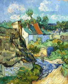 Houses at Auvers by Vincent van Gogh(via @lonequixote)