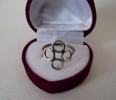 silver 925 designer style Ring Womens anniversary size R-1/2 Vintage (2)
