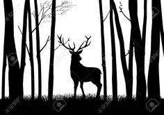 woods silhouette - Google Search