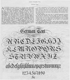 Ornate German calligraphy guide