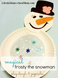 Magical Frosty the Snowman Craft for Kids