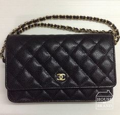 Chanel WOC in Black Caviar GHW