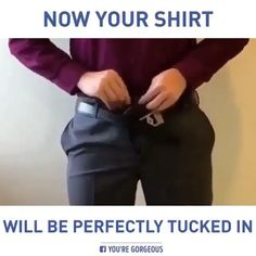 Keep your shirt tucked in, Adult Fashion For Men videos Formal Dresses For Men, Formal Men Outfit, Mens Style Guide, Men Style Tips, Indian Men Fashion, Mens Fashion, Men's Fashion Tips, Fashion Videos, Best Suits For Men