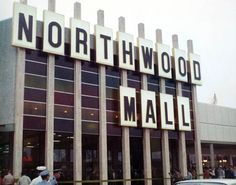 View of the Northwood Mall on opening day in 1969, Tallahassee, Florida. Eventually all the retailers left and the entire building was taken over by the state government and converted to office space. It is now known as Northwood Centre.
