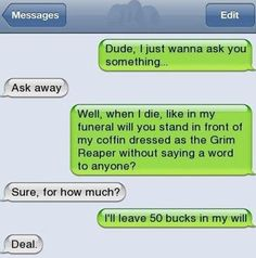 Funny Texts haha sounds like my bestie. Funny Shit, Funny Texts Jokes, Text Jokes, Cute Texts, Stupid Funny Memes, Funny Relatable Memes, Haha Funny, Funny Stuff, Epic Texts