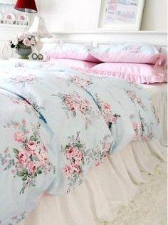 Inspiração décor – azul e rosa, as cores do Shabby Chic