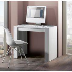 Table console extensible en bois avec allonges EXTENSO