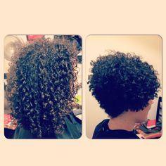 A short and sassy Deva Cut Short Curly Hair, Curly Hair Styles, Short Curls, Curly Bob, Deva Curl Cut, Short Black Haircuts, Tapered Natural Hair, Natural Hair Transitioning, Biracial Hair