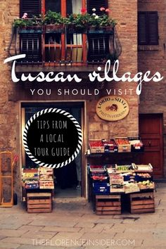 My top 10 Tuscan villages you should visit, my favorite hamlets in Tuscany where enjoy wine, food, landscapes and traditions. Tips from a local tour guide! #ItalyTrip