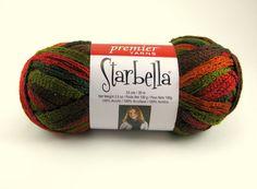 Starbella Ruffle Scarf Yarn by Premier: Autumn by PurpleOkapiStudio, $6.75