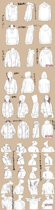 Different kind of jackets - How to draw clothing - clothing drawing reference