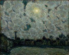 Henri le Sidaner (1862-1939), La Place au clair de lune.