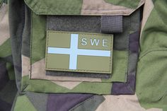 Sweden Subdued Flag OPS PVC Patches available at Tac-Up Gear webshop which shps all over the world.