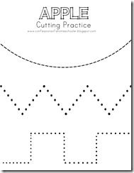 Tons of great preschool worksheets (cutting, tracing