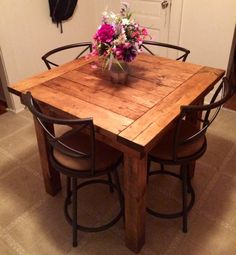 Rustic Farmhouse Dining Table by HATSWOODWORK on Etsy