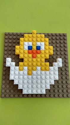 Лего мозаика, цыпа Lego Math, Lego Craft, Lego Duplo, Easter Crafts, Crafts For Kids, Modele Lego, Minecraft Beads, Lego Mosaic, Lego Challenge
