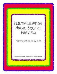 FREE multiplication practice game for x10, x11, and x12