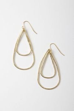double arrowhead earrings #anthropologie